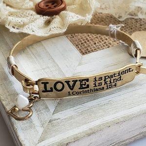Trendy Love is Patient Bracelet